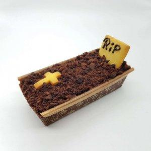 Brownie Em Forma De Caixão Rip