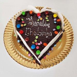 Bolo Em Forma De Coração De Chocolate