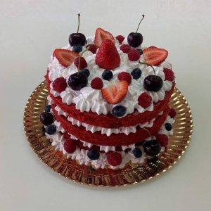 Naked Cake Com Frutos Vermelhos