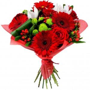 Buque De Gerberas Rosas Vermelhas Para Dia Dos Namordos