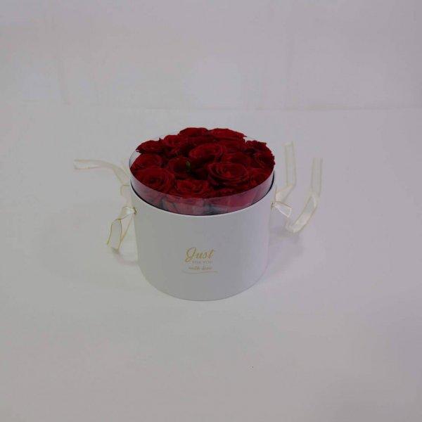 Caixa De Rosas Vemelhas