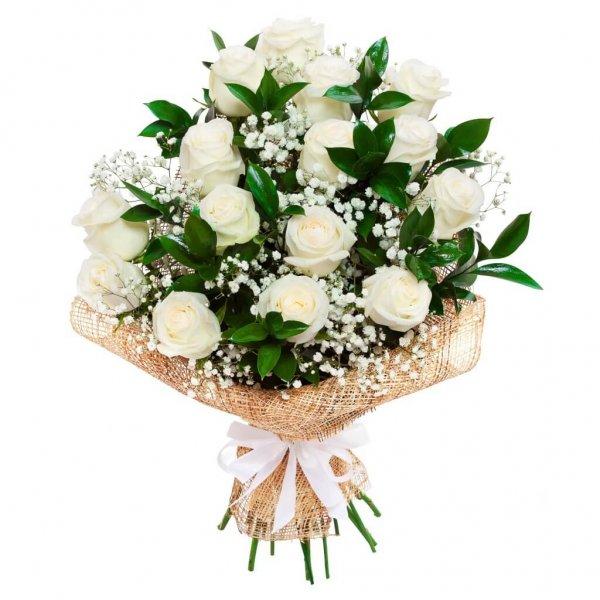 Buque De Noiva Com Rosas Brancas Min