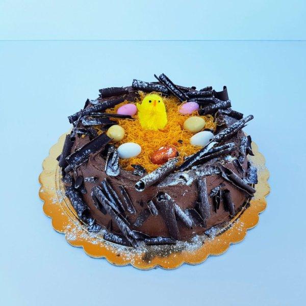 Ninho Da Páscoa De Chocolate