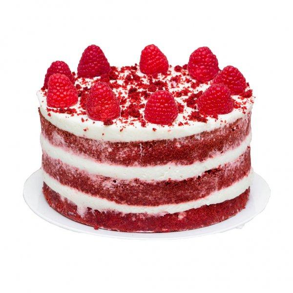 Naked Cake Com Framboesas