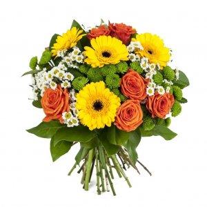 Bouquet Com Gerberas, Margaridas E Rosas