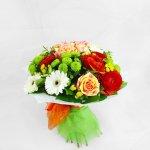Bourquet De Gerberas, Rosas E Ranunculus