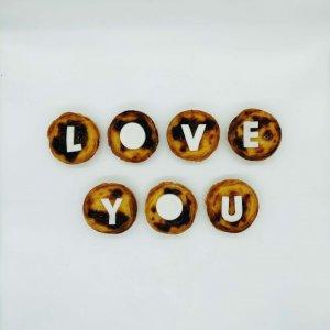 Mensagem De Amor Love You Em Pastéis De Nata