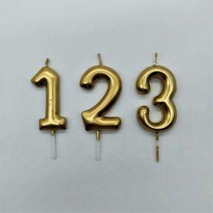 Velas Numéricas Douradas