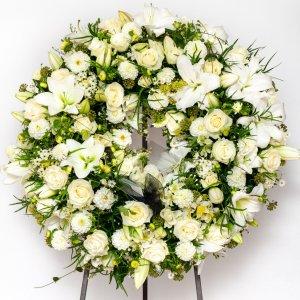 Coroa De Funeral Flores Brancas