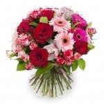 Ramo Grande De Rosas E Gerberas Para Mulher