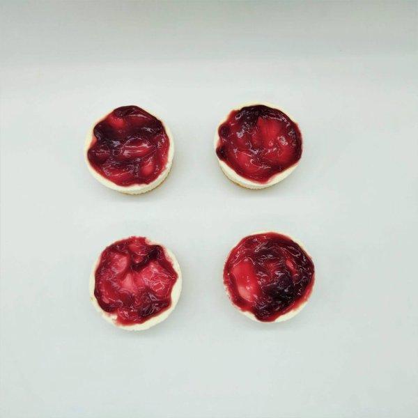 Miniaturas De Cheesecake De Frutos Vermelhos 4 Unidades