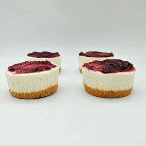 Miniaturas De Cheesecake De Frutos Vermelhos Sem Gluten