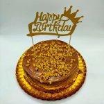 Bolo Com Topper Happy Birthday
