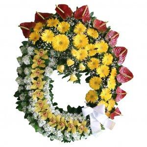 Coroa De Flores Grande Para Funeral