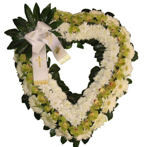 Coração De Flores Para Funeral