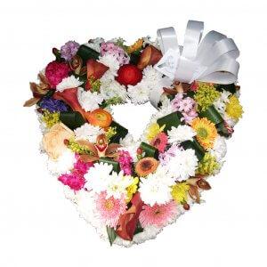 Coração De Flores Para Velório De Senhora