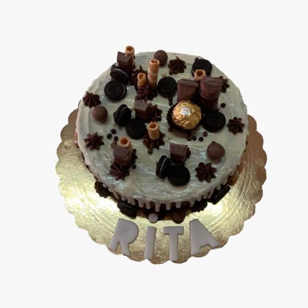 Drip Cake Com Chocolate Branco Lisboa