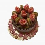 Drip Cake Com Flores E Dourado