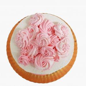 Naked Cake Branco E Rosa