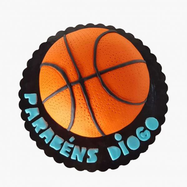 Bolo Em Forma De Bola De Basketball