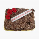 Bolo Retangular Com Raspas De Chocolate