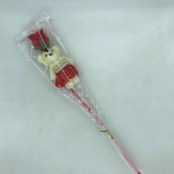 Rosa De Plástico Com Ursinho