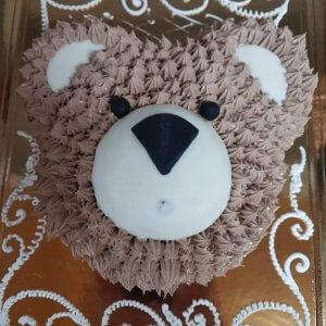 Bolo Em Forma De Cabeça De Urso