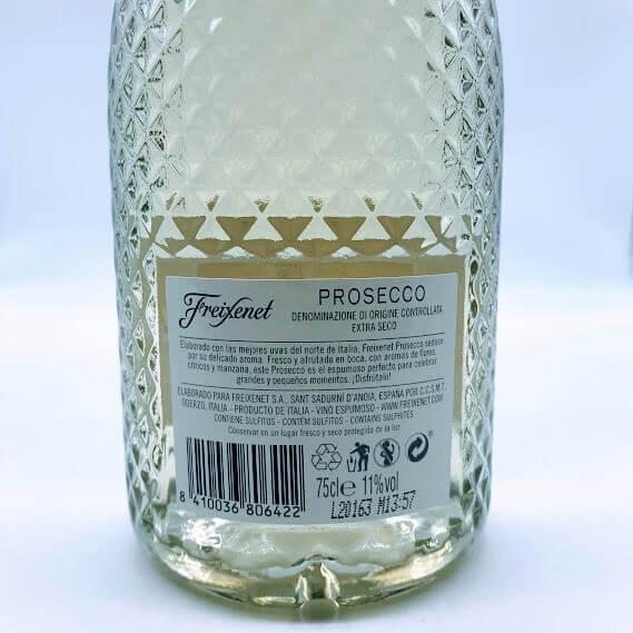 Freixenet Prosecco Rótulo Trás
