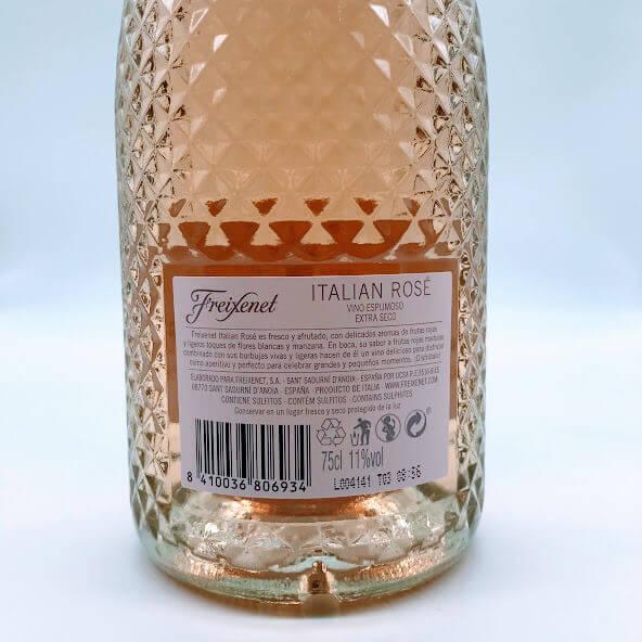 Freixenet Rosé Rótulo Trás