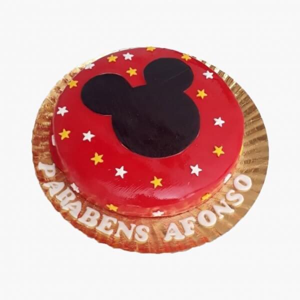 Bolo Com Estrelas Do Mickey