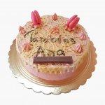 Drip Cake Cor De Rosa Com Macarons