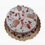 Naked Cake Com Chantilly E Macarons Rosa