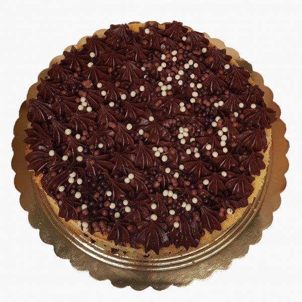 Naked Cake Com Cobertura Chocolate