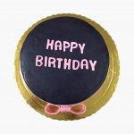 Bolo Com Laço Happy Birthday