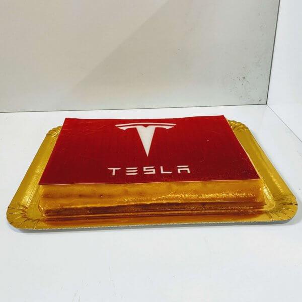 Bolo Com Logo Da Tesla