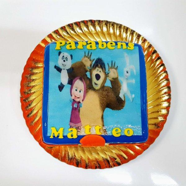 Bolo Marsha E Urso Com Panda