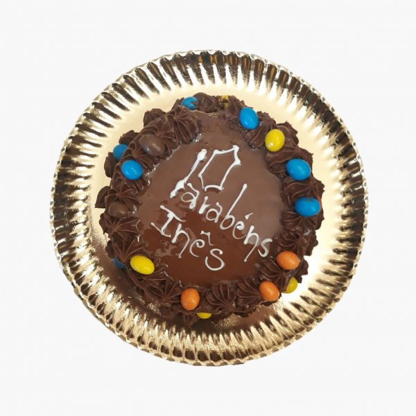 Bolo Simples Chocolate E M&m