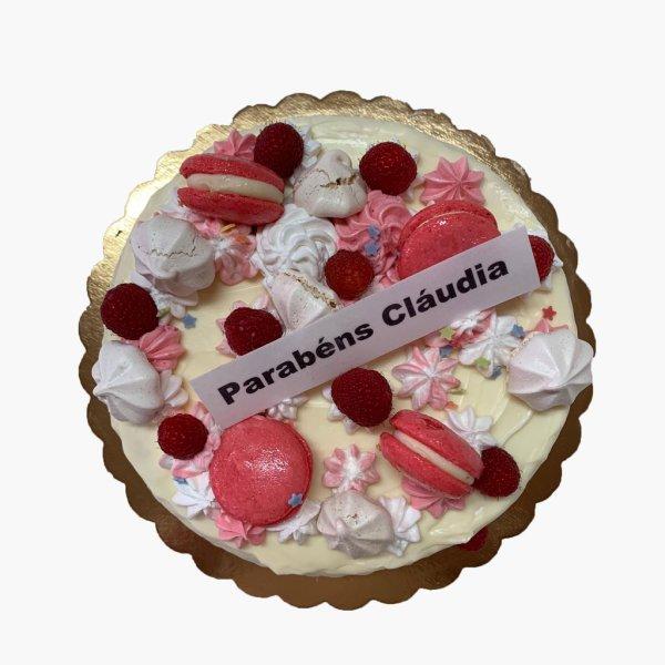 Drip Cake Macaron E Suspiro E Framboesa