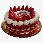 Naked Cake Com Morangos E Chantilly
