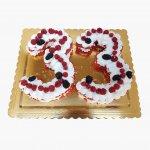 Number Cake 33 Anos Com Frutas Vermelhas