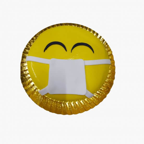 Bolo De Emoji Com Mascara
